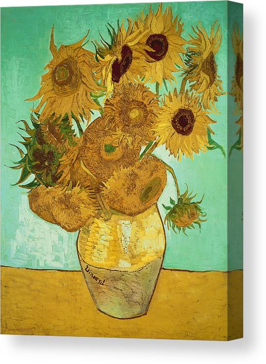 Sunflowers Canvas Print featuring the painting Sunflowers by Van Gogh by Vincent Van Gogh