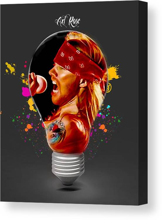 Axl Rose Canvas Print featuring the mixed media Axl Rose Collection by Marvin Blaine