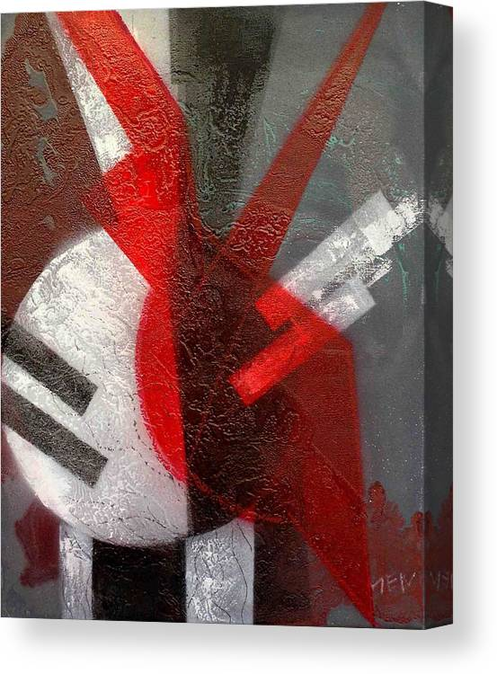 Abstract Canvas Print featuring the painting 2 Abstract Vases by Evguenia Men