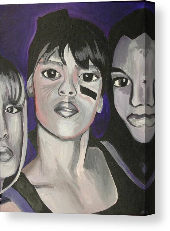 Lisa Lopez Canvas Print featuring the painting Left Eye by Kate Fortin