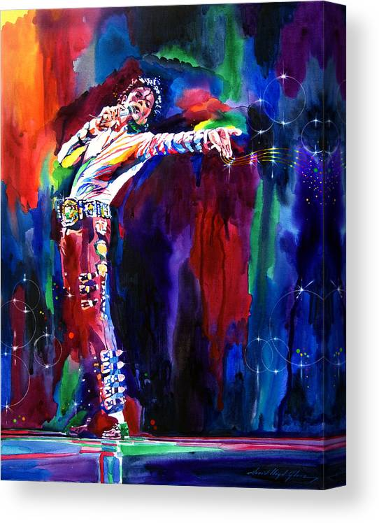 Michael Jackson Canvas Print featuring the painting Jackson Magic by David Lloyd Glover