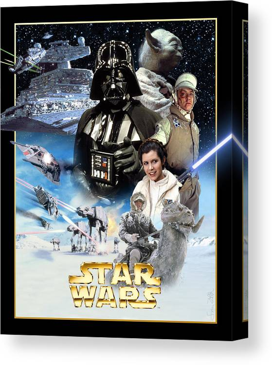 Star Wars Episode V The Empire Strikes Back 1980 Canvas Print Canvas Art By Geek N Rock