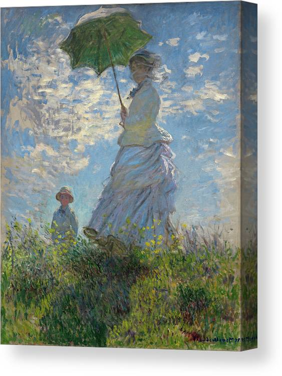 Woman With A Parasol Madame Monet And Her Son Canvas Print Canvas Art By Claude Monet