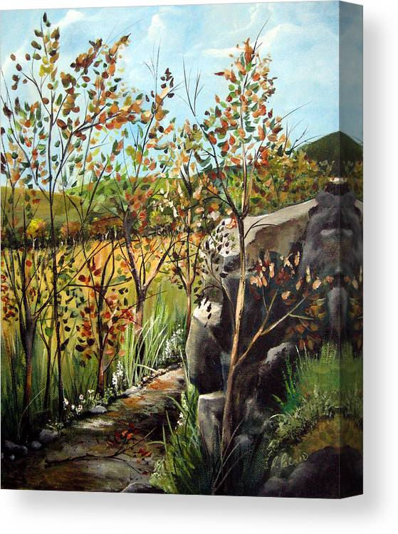Canvas Print featuring the painting Afternoon Stroll by Ruth Palmer