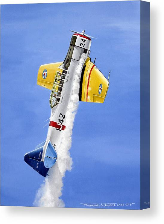 Military Canvas Print featuring the painting Air Show by Marc Stewart