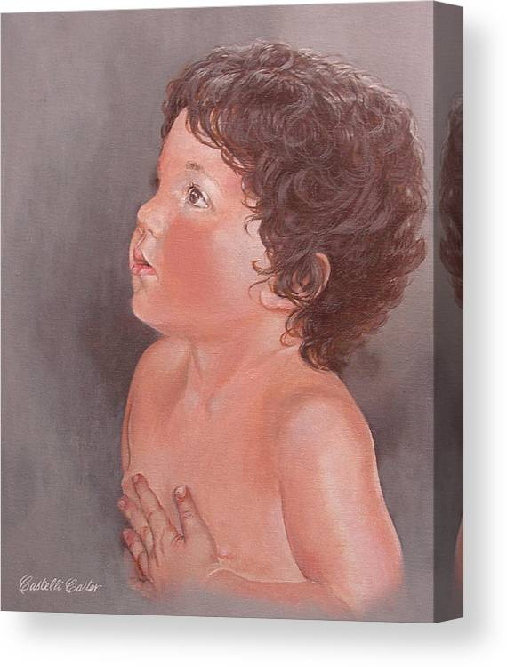 Children Canvas Print featuring the painting Anthony Leonard by JoAnne Castelli-Castor