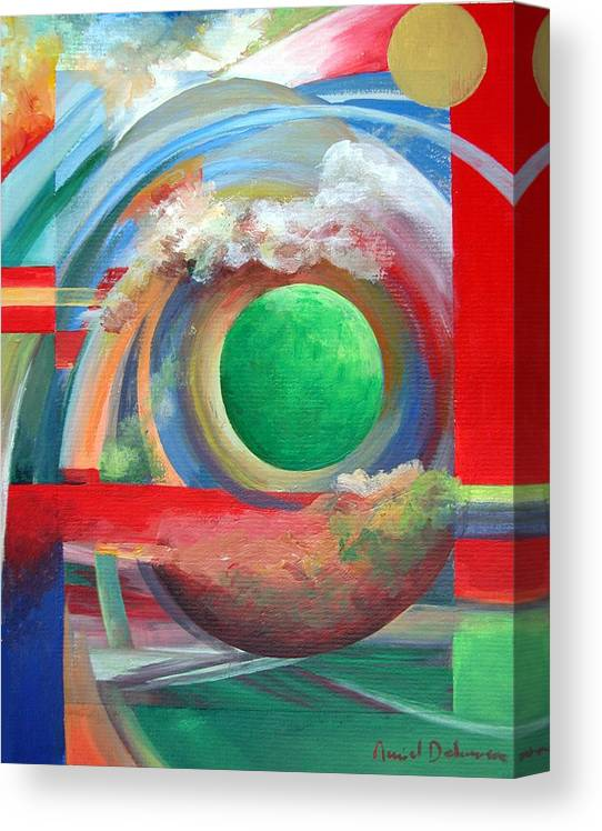 Abstract Canvas Print featuring the painting Arc by Muriel Dolemieux