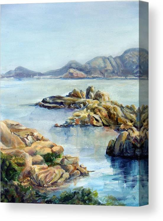 Landscape Canvas Print featuring the painting Baie by Muriel Dolemieux