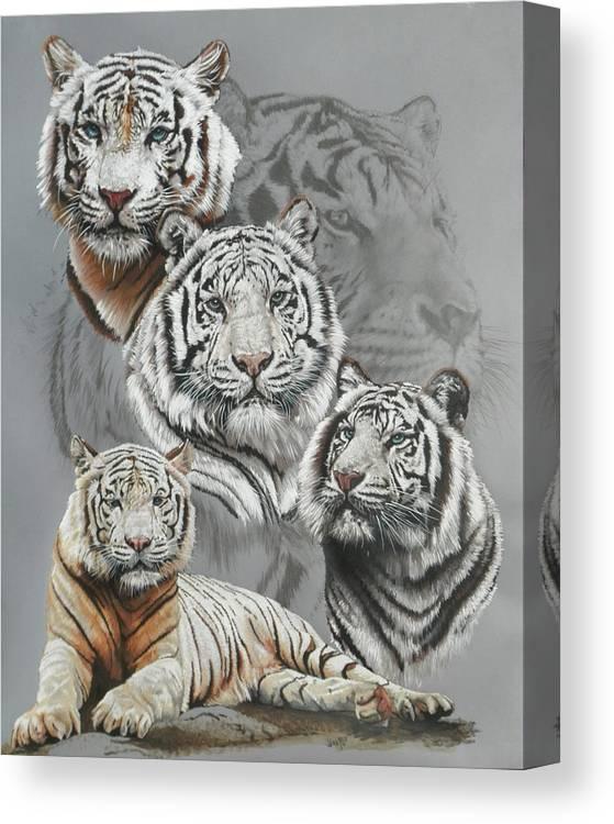 Tiger Canvas Print featuring the mixed media Baron by Barbara Keith