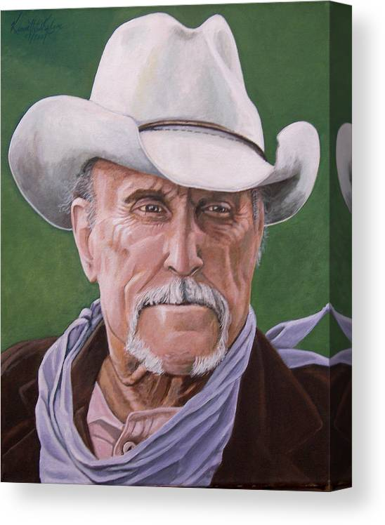 Cowboy Canvas Print featuring the print Boss Spearman 2 by Kenneth Kelsoe