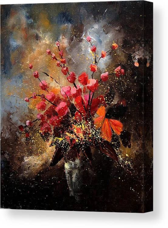 Poppies Canvas Print featuring the painting Bunch 1207 by Pol Ledent