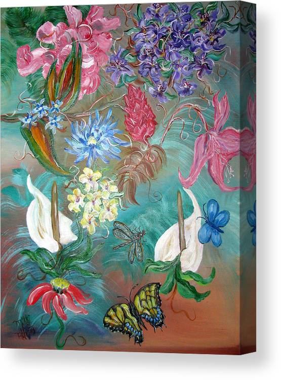 Fantasy Canvas Print featuring the painting Caribbean Delight by Mikki Alhart