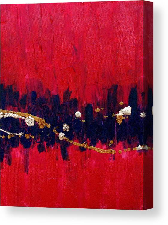 Abstract Canvas Print featuring the painting Carla number three by Jess Thorsen