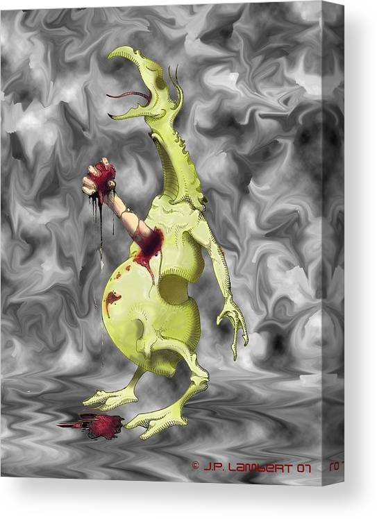 Violent Canvas Print featuring the digital art Chesterbuster by J P Lambert