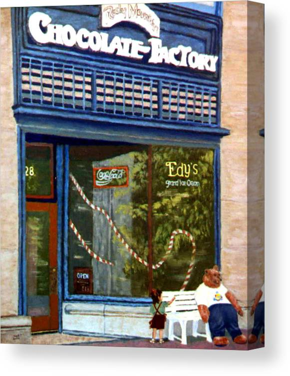 Original Oil On Panel Canvas Print featuring the painting Chocolate Factory by Stan Hamilton