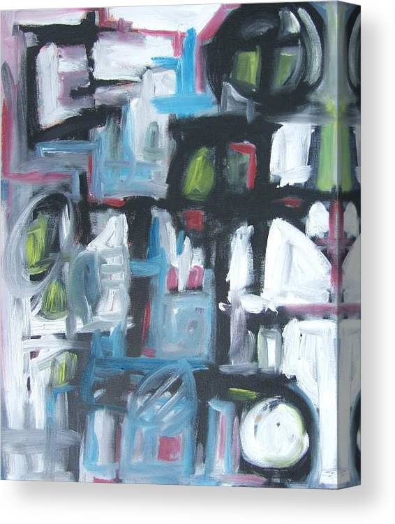 Abstract Canvas Print featuring the painting Composition No. 3 by Michael Henderson