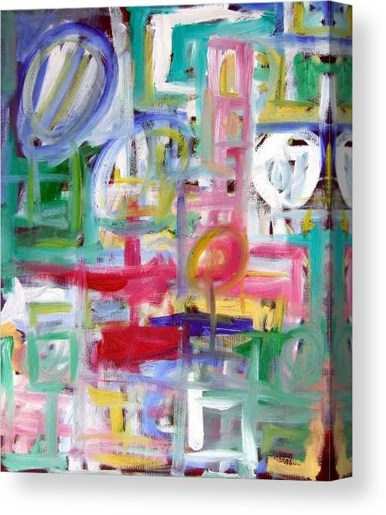 Abstract Canvas Print featuring the painting Composition No. 5 by Michael Henderson