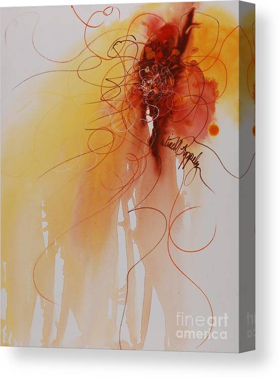 Creativity Canvas Print featuring the painting Creativity by Nadine Rippelmeyer