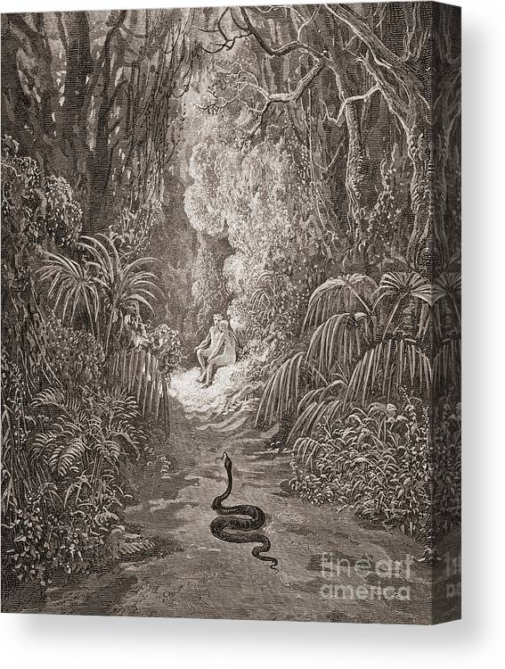Adam And Eve Illustration From Paradise Lost By John Milton Canvas Print Canvas Art By Gustave Dore
