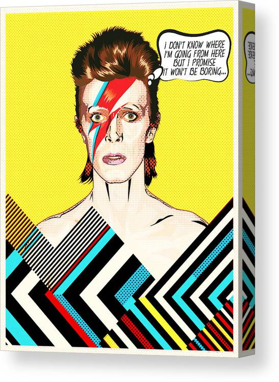 Art print POSTER CANVAS David Bowie and Band in Concert