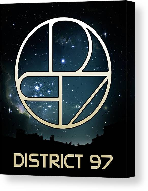 Canvas Print featuring the digital art District 97 Logo by District 97