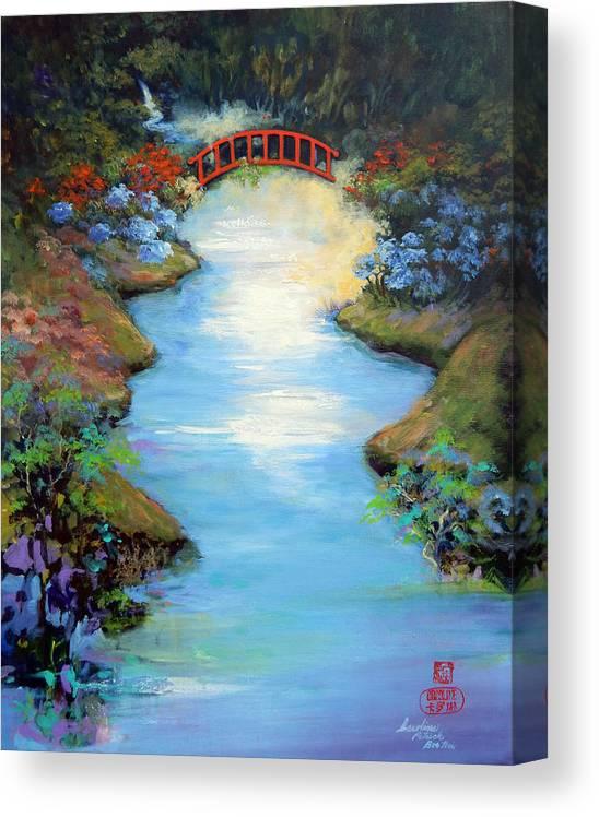 Streams Canvas Print featuring the painting Dragon Bridge by Caroline Patrick