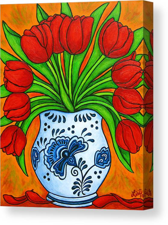 White Canvas Print featuring the painting Dutch Delight by Lisa Lorenz