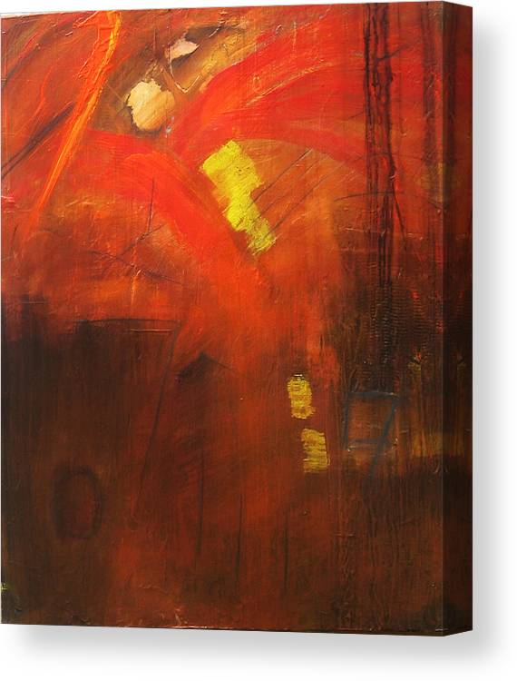 Abstract Canvas Print featuring the painting Ego Trip by Carrie Allbritton