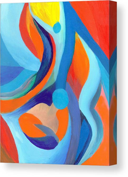 Abstract Canvas Print featuring the painting Finding Joy by Peter Shor