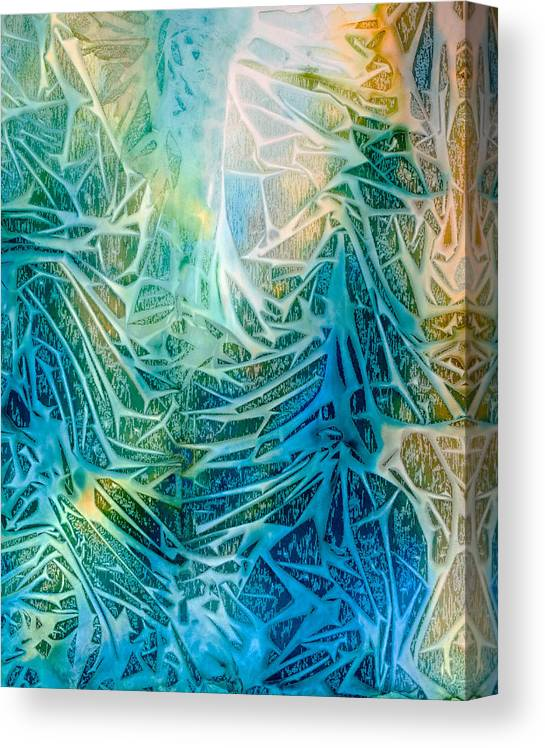 Abstract Canvas Print featuring the painting Glorious Triumph - A by Sandy Sandy