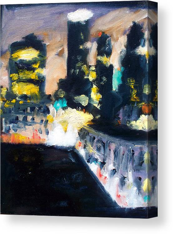 Des Moines Canvas Print featuring the painting Gotham by Robert Reeves