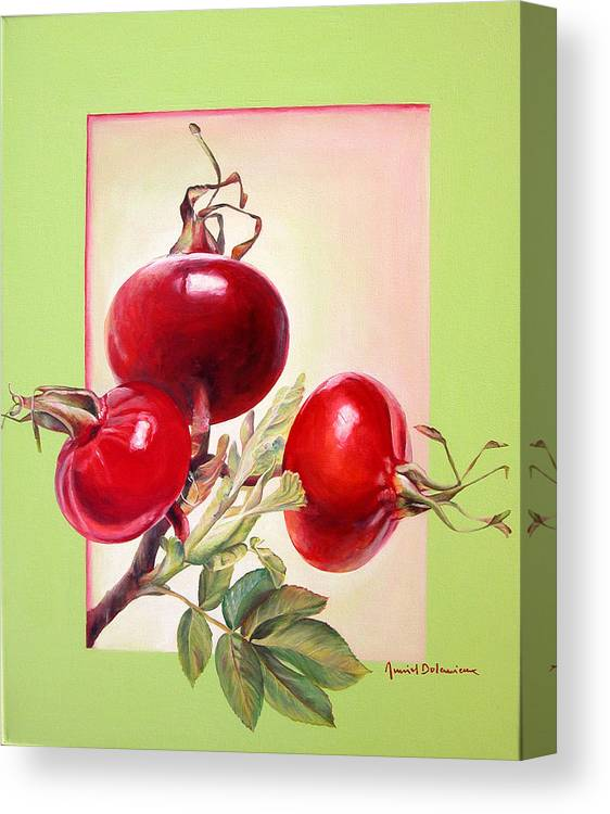 Still Life Canvas Print featuring the painting Grenadine by Muriel Dolemieux