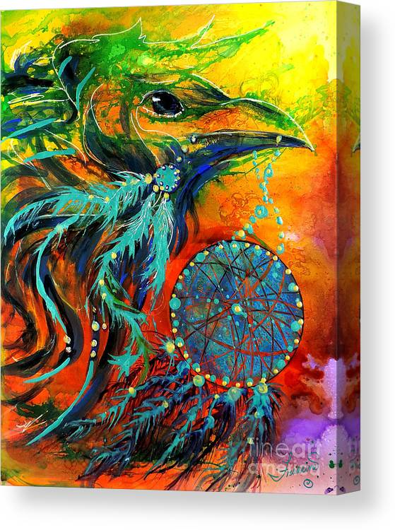 Mythical Canvas Print featuring the painting Hope Rising by Francine Dufour Jones