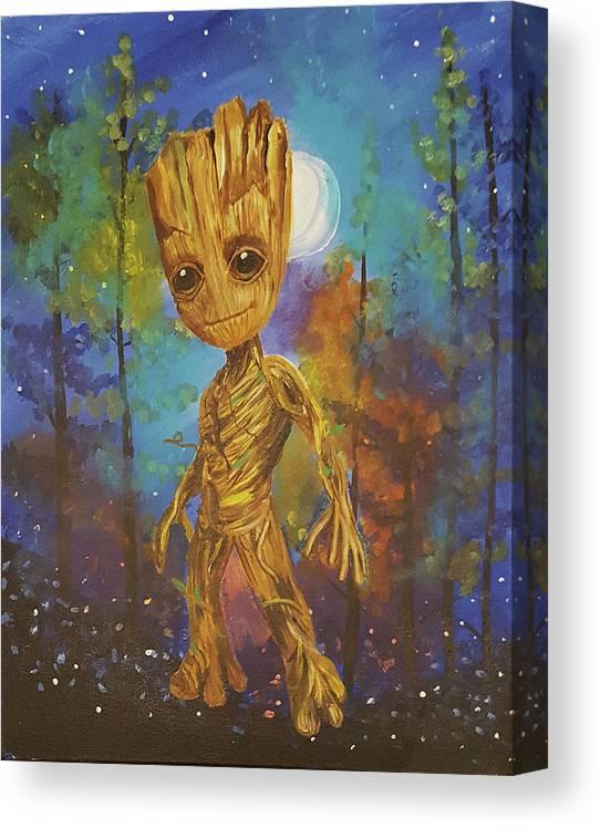 Dancing Groot Canvas Print