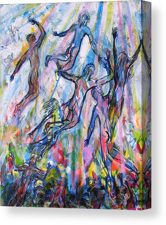 Hope Canvas Print featuring the painting Is Anybody Coming To Get Me by Rollin Kocsis
