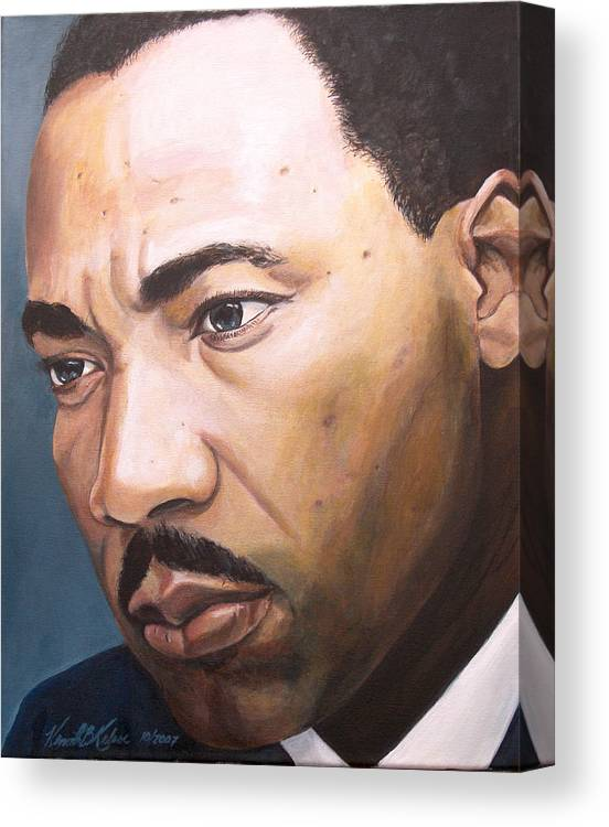 Portrait Canvas Print featuring the painting King by Kenneth Kelsoe