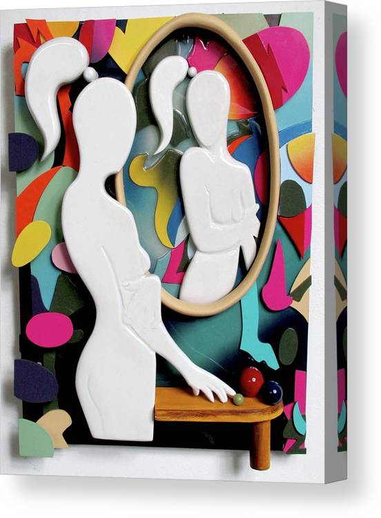Czappa Canvas Print featuring the sculpture Kostabi 3D by Bill Czappa