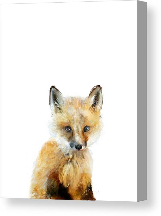 Fox Canvas Print featuring the painting Little Fox by Amy Hamilton