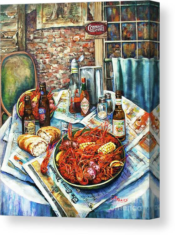 New Orleans Art Canvas Print featuring the painting Louisiana Saturday Night by Dianne Parks