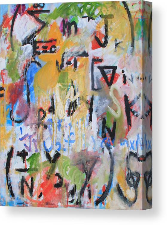 Math Canvas Print featuring the painting Math III by Michael Henderson