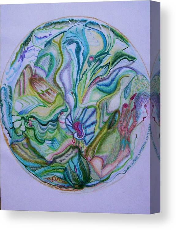 Abstract Canvas Print featuring the drawing Mind Mandala by Suzanne Udell Levinger