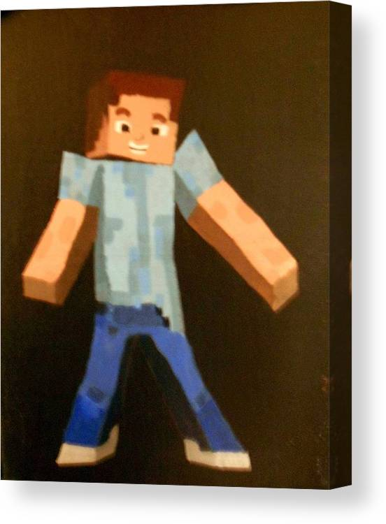 Minecraft Steve Canvas Print Canvas Art By Sheri Keith Via Jayd