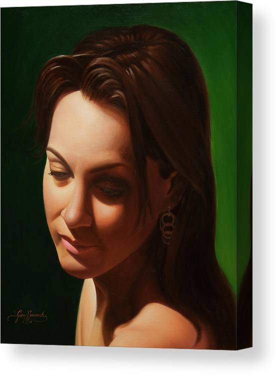 Figure Study Canvas Print featuring the painting Muse II by Gary Hernandez