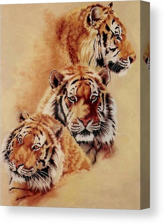 Tiger Canvas Print featuring the pastel Nanook by Barbara Keith