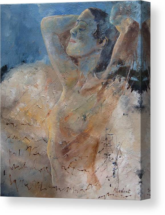 Nude Canvas Print featuring the painting Nude 0508 by Pol Ledent