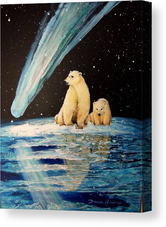 Alaska Canvas Print featuring the painting One Mile From the Top of Alaska by Dianne Roberson