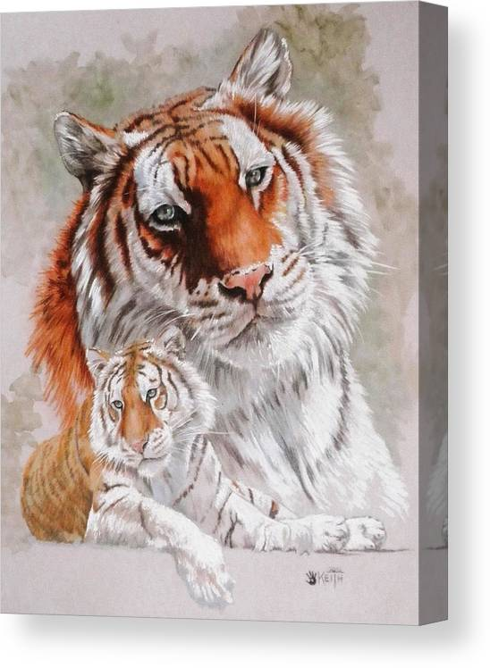 Wildcat Canvas Print featuring the mixed media Opulent by Barbara Keith