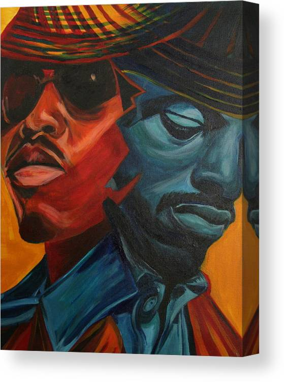 Big Boi Canvas Print featuring the painting Outkast by Kate Fortin