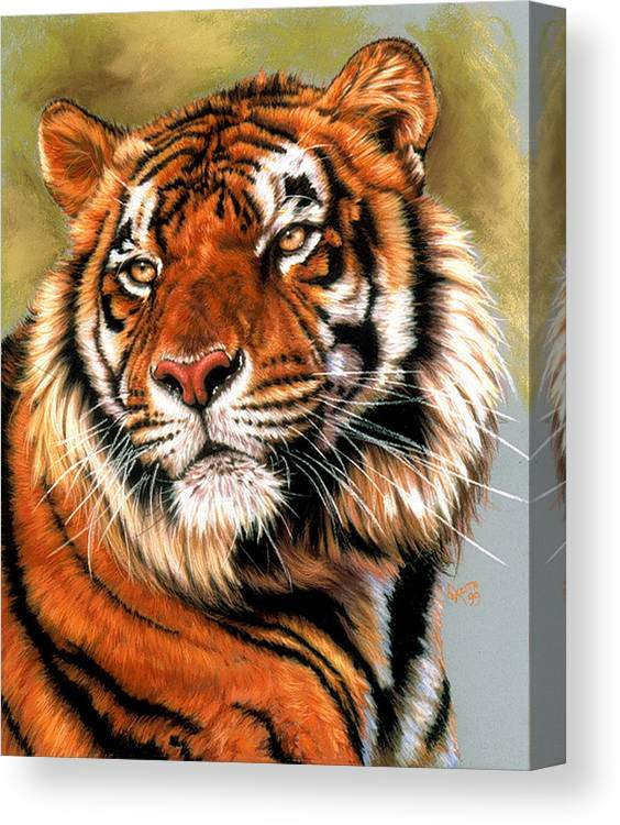Tiger Canvas Print featuring the pastel Power and Grace by Barbara Keith