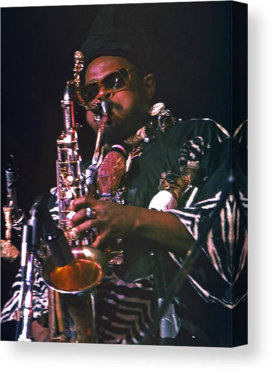 Rahsaan Roland Kirk Canvas Print featuring the photograph Rahsaan Roland Kirk 4 by Lee Santa